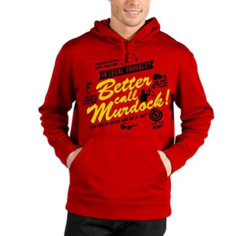 Felpa con cappuccio Better call Murdock - in legal trouble - Breaking Bad - serie tv - in cotone Rosso