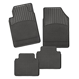 CarFashion Allwetter Schalenmatte A1, Auto Fussmatten Set in schwarz, 4-teilig, ohne Mattenhalter für Citroen C4 Limousine, Coupé, Baujahr 12/2004-10/2010