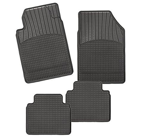 CarFashion Allwetter Schalenmatte A1, Auto Fussmatten Set in schwarz, 4-teilig, ohne Mattenhalter für Toyota Camry , Baujahr 11/2001-12/2004