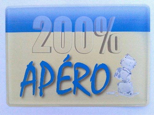 200% Apéro - Plaque métal décorative