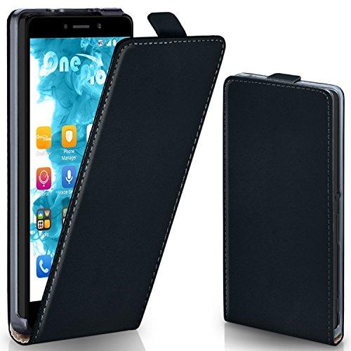 OneFlow Tasche für Huawei Honor 6X Hülle Cover mit Magnet | Flip Case Etui Handyhülle zum Aufklappen | Handytasche Handy Schutz Bumper Schutzhülle mit Schale in Schwarz