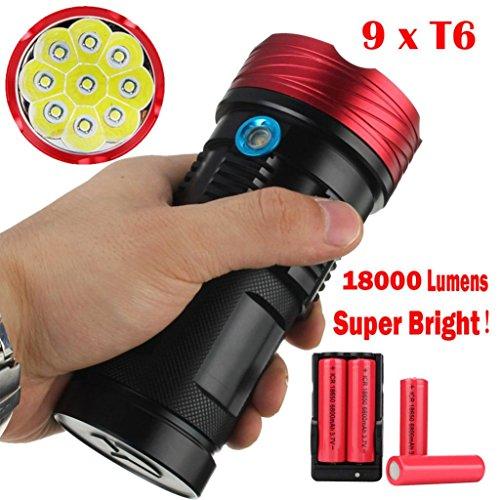 18000Lumen 9X XML T6LED torcia tattica caccia lampada da lavoro