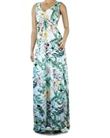 Ex Dorothy Perkins Summer Maxi Dress White Large Floral Print Holiday Beach