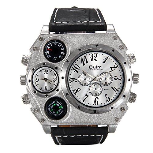 LANCARDO Herren Damen Armbanduhr Analog mit Leder ()