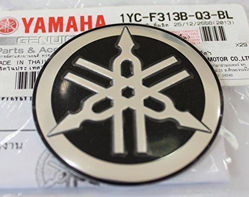 Schneemobil Schwarz Motorrad Jet Ski //Atv Yamaha 100/% Original 45mm Durchmesser Stimmgabel Emblem Sticker Logo Silber