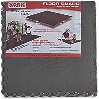 York Fitness - Alfombra protectora de suelo para aparatos de entrenamiento (122  x 122 cm), color negro