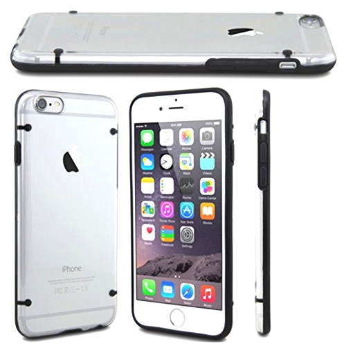 Mold Brand New Clear Back Case Cover Transparent Perfect Fit Light Weight Durable Uniquely Designed for (5.5 inch Display) iPhone 7 Plus / iPhone 7S Plus(Black + Transparent )