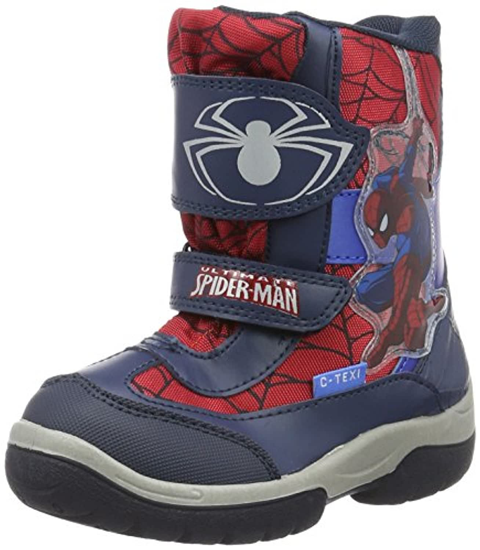 Spiderman Boys' Kids Snowboot Booties Ankle Boots, Blau (LN/LN/RE/CB 818), 8 Child UK