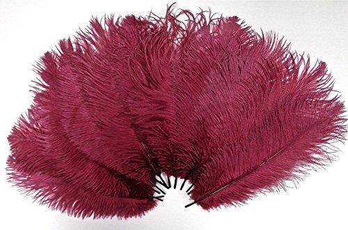 kolight100pcs 20,3cm ~ 25,4cm (20cm ~ 25cm) natur Strauß Federn für DIY Hochzeit, Party, HOME, Haare Dekoration burgunderfarben (Boas Rosa Bulk)
