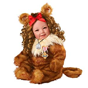 """Adora Cowardly Lion The Wizard Of Oz 20"""" Baby Doll, 75Th Anniversary"""