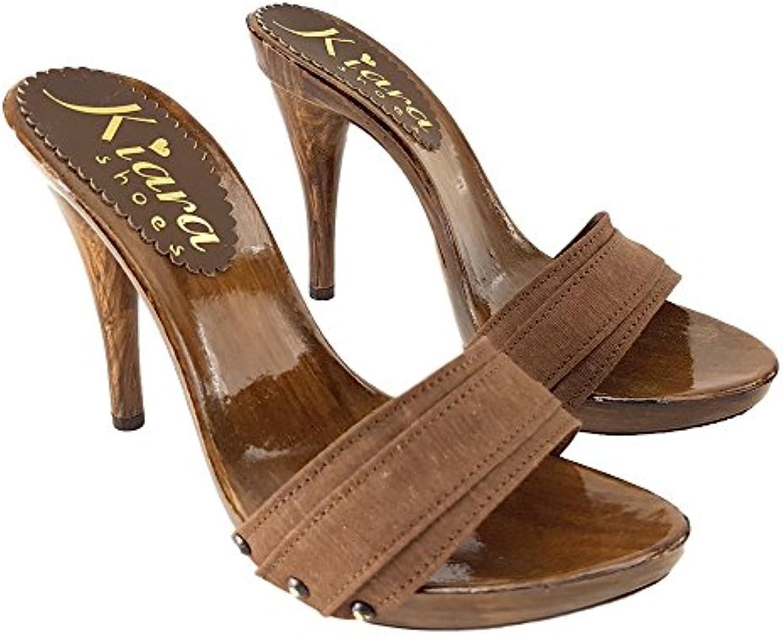e8279cf083014e klara chaussures Marron sabots talon 12 cm km7201 marrone marrone marrone  b07d2k4r7s parent   Les Consommateurs D'abord 9a19d1