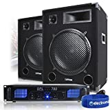 """Best Dj Systems - 2x Max 15"""" PA Speakers + Power Amplifier Review"""