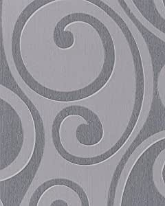tapete marburg di moda 54245 vliestapete ranken grau. Black Bedroom Furniture Sets. Home Design Ideas
