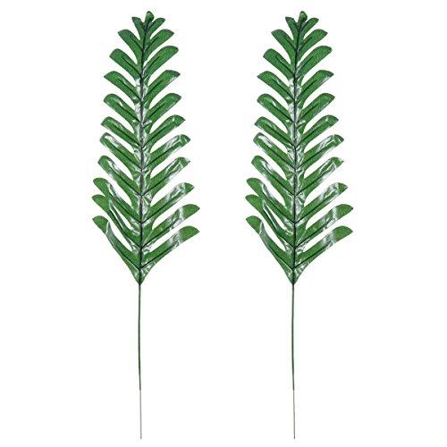 oulii Künstliche Blätter Grün einzelnes Blatt für Home Kitchen Party Dekorationen Handarbeit (Persian Farn Blätter)–2Stück
