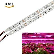 (10unidades) XJLED 2016Nueva LED Grow luz Bar flexible suave tira de luz tira 0,5m/30unidades 5W 5050SMD 25Red + 5Blue corriente continua 12V para las plantas de interior jardín invernadero sistema hidropónico Kit (Pack de 10)