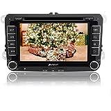 Kürbis 17.78 cm Android 4.4 Kfz-DVD-Player, Stereo-Serie für VW Golf/Jetta/Passat/Seat-Skoda-Serie in-Dash 2 Din GPS Navigation Navigationsgerät unterstützt USB/SD/Subwoofer, OBD2/3 g/Wifi/iPod/iPhone/1080P Video/DVR/Steuergerät/Rückfahrkamera Multimedia system