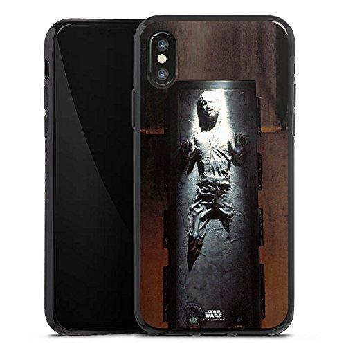Apple iPhone 8 Hülle Premium Case Cover Star Wars Merchandise Fanartikel Han Solo frozen Silikon Case schwarz