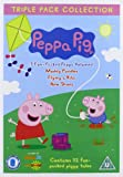 Peppa Pig Triple (Muddly Puddles, Flying a Kite, New Shoes) 3 Disc Vol 1-3 [Reino Unido] [DVD]