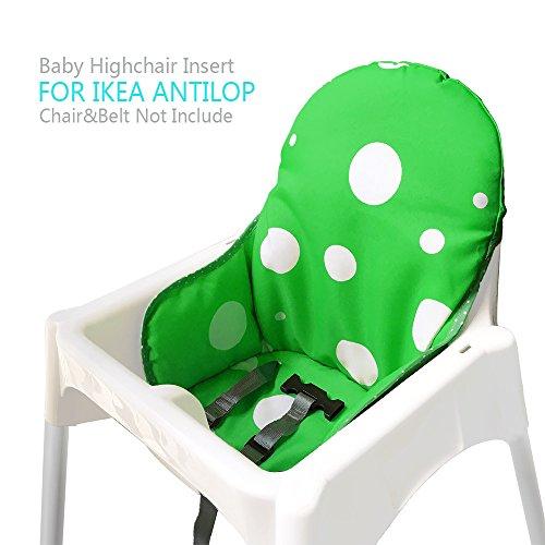 ZAMA Trona Cojines para Ikea Antilop, Lavable, Plegable, Silla Alta Cojines para...
