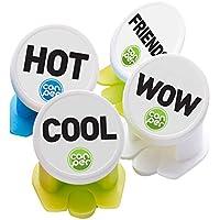 Canper es un nuevo tapón de latas reutilizable para el consumo higiénico de bebidas enlatadas – Pajita multiusos para latas de refresco (Words 4 Pack)