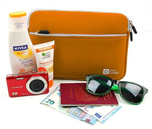 DURAGADGET Wasserabweisende Strand Reisetasche, ORANGE - Die spritzwassergeschützte kleine Aufbewahrungstasche mit großem Comfort für Ihr Smartphone, Sonnencreme, Sonnenbrillen oder Brieftasche!