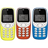 IKALL K71 Mobile Phone Combo (Yellow + Red + Light Blue) With Vibration Feature, 800 MAh Battery