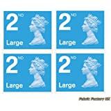4 x Large Letter 2nd Class Self Adhesive Stamp Sheet Royal Mail Post Office