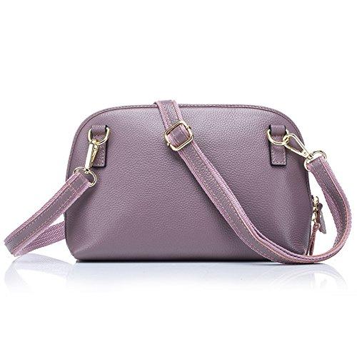 Mefly Leder Schulter Tasche Hülle Tasche Tasche Purple lotus