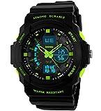 Jungen Jugendliche Kinder Digital Sportuhr - Multifunktion 50M Wasserdicht Elektronisch Sport Armbanduhr mit LED Beleuchtung Stoppuhr Timer Wecker für Kinderuhr uhren ( Grün )