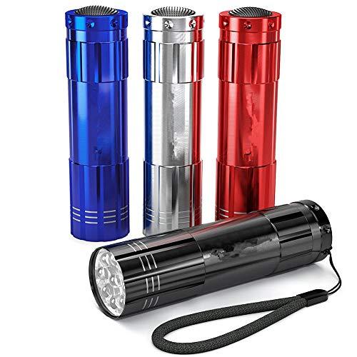 Elegante LED-Mini-Taschenlampe, 4 Stück, Aluminiumlegierung, Notfall-Taschenlampe für Outdoor-Aktivitäten