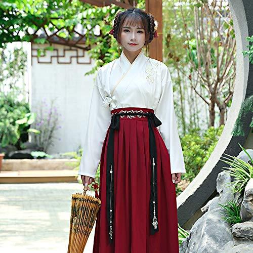Cxlyq Hanfu Chinese National Folk Dance Kostüm Alte Han-Dynastie Schwertkämpfer Cosplay Frauen Hanfu Outfit Prinzessin Lady Tang-Dynastie - Women's Golf Kostüm