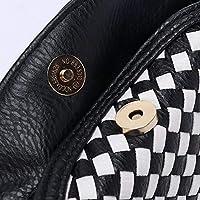 LridSu Bolso Clutch Bolso Transparente Bolso Tejido de Cadena de la PU del Mensajero del Hombro de Las Mujeres, los 18cm * 7cm * 13cm
