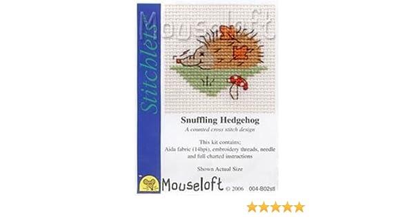 MOUSELOFT STITCHLETS CROSS STITCH KIT~ SNUFFLING HEDGEHOG ~ NEW