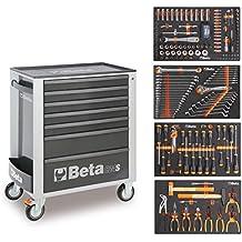 Beta Easy carro de herramientas con 7cajones con 210piezas Surtido de herramientas, 2400S de adhesivo/S de m, Naranja