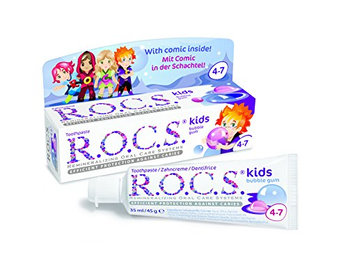 Dentífrico R.O.C.S. Kids Bubble Gum con sabor a chicle
