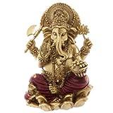 Puckator - Estatua de Ganesh (16 cm), Color Rojo y Dorado