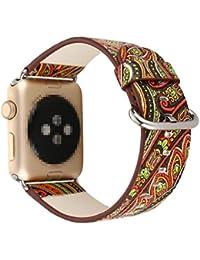 iWatch Correa,Culater Correa de repuesto de cuero de primera calidad para Apple Watch 38mm