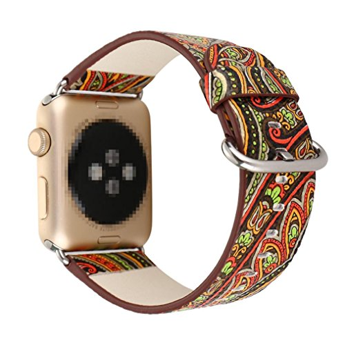 iWatch Correa,Culater Correa de repuesto de cuero de primera calidad para Apple Watch 38mm