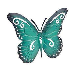 Gardman Pink or Turquoise Metal Butterfly Wall Art Garden Decoration from Gardman