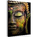 decomonkey | Bilder Budda 80x120 cm 1 Teilig | Leinwandbilder | Bild auf Leinwand | Vlies | Wandbild | Kunstdruck | Wanddeko | Wand | Wohnzimmer | Wanddekoration | Deko | Buddhismus Buddha