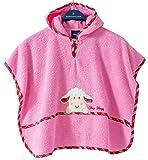 Morgenstern, hochwertiger Frottee - Bade - Poncho aus 100 % Baumwolle, Farbe rosa, Motiv Schaf, Größe one size (ca. 1 bis 3 Jahre)