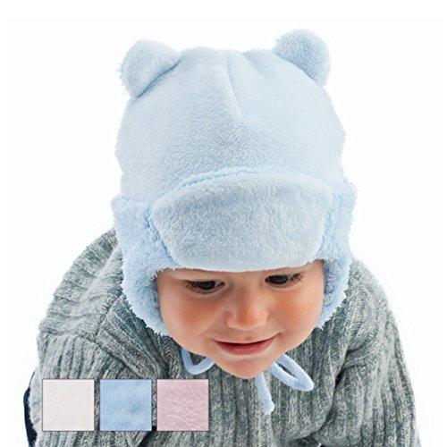 Babymütze Wintermütze 6576 Uni ROSA oder BLAU oder CREMEWEISS Gr. 38 (cremeweiß)