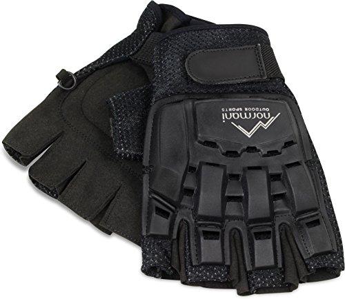 Taktsiche Paintball Handschuhe ohne Finger mit Protektorenschutz und Belüftungssystem Größe L