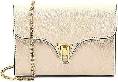 Coccinelle Umhängetasche Mini Bag aus weißem Leder für Damen 19 x 14 x 4 cm