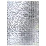 COOJA Statische Fensterfolie Blickdicht UV Schutzfolie, Sichtschutzfolie Fenster Ohne Kleber Milchglasfolie Selbstklebend Glasdekorfolie Glasfolie 3D Folie 45x200cm -Mosaik Muster