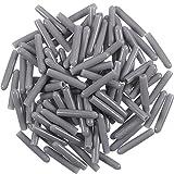 100 Stück Abdeckungen Barbed Abdeckungen Geschirrspüler Rack Tipp Rack Spitzenkappen Push nur zur Reparatur, 1/8 Zoll Durchmesser(Grau)