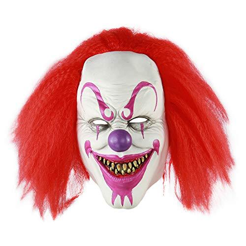 MICG Halloween-Killer Maske für Erwachsene, Horror-Clown, Joker, Demon, Cosplay, Kostüme Red Voldemort