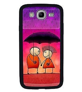 FUSON Love Couple In Rain Designer Back Case Cover for Samsung Galaxy Mega 5.8 I9150 :: Samsung Galaxy Mega Duos 5.8 I9152