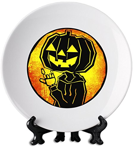 Pumpkin Rock 6'' weiße Platte White Plate| Premium Ceramics-Personalized Dish| Print On Your Plate For Truly Unique Meal Times| Stylish Kitchenware By - Halloween Essen Party Scary Für Eine
