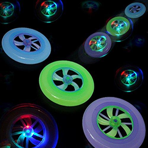Glow Flying Disc LED Pulse Lights–23cm Frisbee Spielzeug für Outdoor Spiel Spielen–Sport für alle Altersgruppen–Party Fun